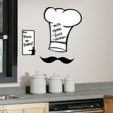 Chef&#39;s Hat Dry Erase Peel &amp; Stick Giant Wall Decals Autocollant mural