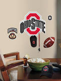 Ohio State Peel & Stick Giant Wall Decal w/Hooks Autocollant mural