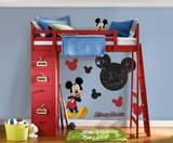 Mickey - Stickers muraux : tableau noir et silhouettes Autocollant mural