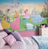 Dancing Princess Chair Rail Prepasted Mural Wall Mural