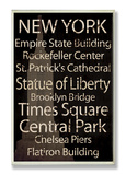 "New York ""Cities & Words"" Wood Sign"