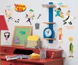 Phineas & Ferb Peel & Stick Wall Decals Muursticker