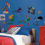 Wallpockets -Blue Peel & Stick Wall Decals Wall Decal