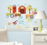 Autocollants muraux faciles Joyeuse basse-cour Adhésif mural
