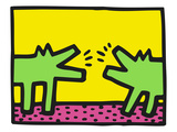 Pop Shop (Dogs) Lmina gicle por Keith Haring