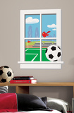 Soccer Practice Peel & Stick Window Wall Decal Wall Decal
