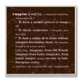 Imagine Definition Inspiration Wood Sign