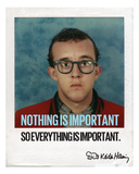 Nothing is Important Fotografie-Druck von Keith Haring