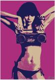 Steez Bikini Boombox - Purple Print