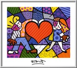 Niños y corazón Lámina por Romero Britto