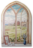 St. Andrew's Gold Course Window Wood Sign