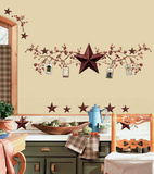 Country Stars & Berries Peel & Stick Wall Decals Autocollant mural