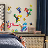 Nintendo - Super Mario Bros. Wii Peel & Stick Wall Decals Muursticker
