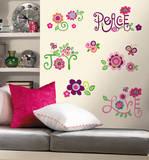 Love, Joy, Peace (sticker murale) Decalcomania da muro