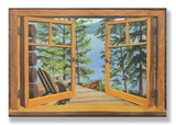 Cabin/Lake View Window Wood Sign