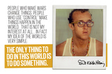 Do Something Lmina fotogrfica por Keith Haring