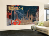London Chair Rail Prepasted Mural Wall Mural