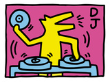 Pop Shop (DJ) Gicl&#233;e-Druck von Keith Haring