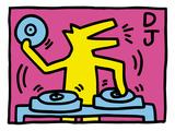 Pop Shop (DJ) Giclée-Druck von Keith Haring