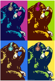 Steez Monkey Thinker Quad Pop-Art Photo