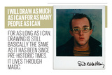 I Will Draw Photographic Print by Keith Haring