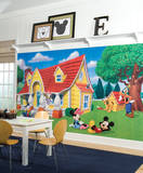 Mickey & Friends Chair Rail Prepasted Mural Wall Mural