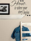 Autocollants Citations : Home is Where Your Story Begins   Autocollant mural