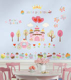 Happi Cupcake Land Peel & Stick Wall Decals Veggoverføringsbilde