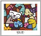 Happy Cat and Snob Dog Láminas por Romero Britto