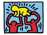 Keith Haring - Pop Shop (Radiant Baby) Digitálně vytištěná reprodukce