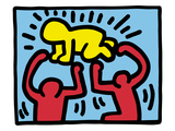 Pop Shop (Radiant Baby) Gicléedruk van Keith Haring
