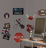 Boys Rock-n-Roll Peel & Stick Wall Decals Wall Decal