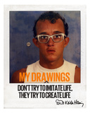 My Drawings Photographic Print by Keith Haring