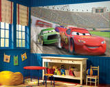 Cars Chair Rail Prepasted Mural Wallpaper Mural
