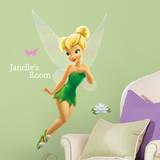 Disney Faries - Tinkerbell Peel & Stick Giant Wall Decal w/PZ Autocollant mural