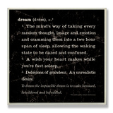 Dream Definition Inspiration Wood Sign