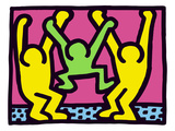 Pop Shop (Family) Lmina gicle por Keith Haring