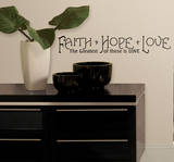 Faith, Hope & Love Peel & Stick Quotable Vinilo decorativo