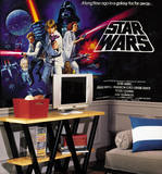 Star Wars Classic Chair Rail Prepasted Mural 6' x 10.5' Wall Mural
