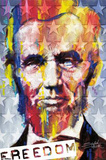 Abraham Lincoln - Freedom Print by Stephen Fishwick