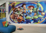 Toy Story 3 Chair Rail Prepasted Mural Wallpaper Mural
