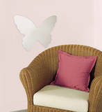 Butterfly Peel & Stick Mirror (Large) Autocollant