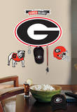 Univ. of Georgia Peel & Stick Giant Wall Decal w/Hooks Wall Decal