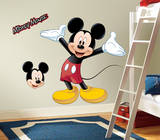 Mickey & Friends - Mickey Mouse Peel & Stick Giant Wall Decal Kalkomania ścienna