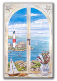 Montauk Lighthouse Window Wood Sign