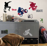 Extreme Sports Peel & Stick Wall Decals Kalkomania ścienna
