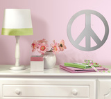 Peace Sign Peel &amp; Stick Mirror (Large) Autocollant mural