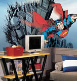 Superman Chair Rail Prepasted Mural Wall Mural