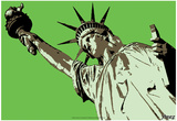 Steez Lady Liberty - Green Posters