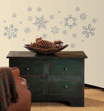 Glitter Snowflakes Peel & Stick Wall Decals Wall Decal